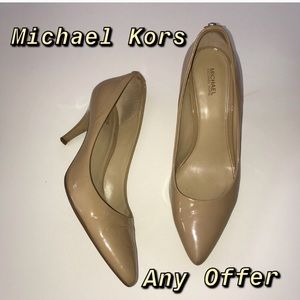 Michael Kors Nude Parent Heels ✅Any Offer✅